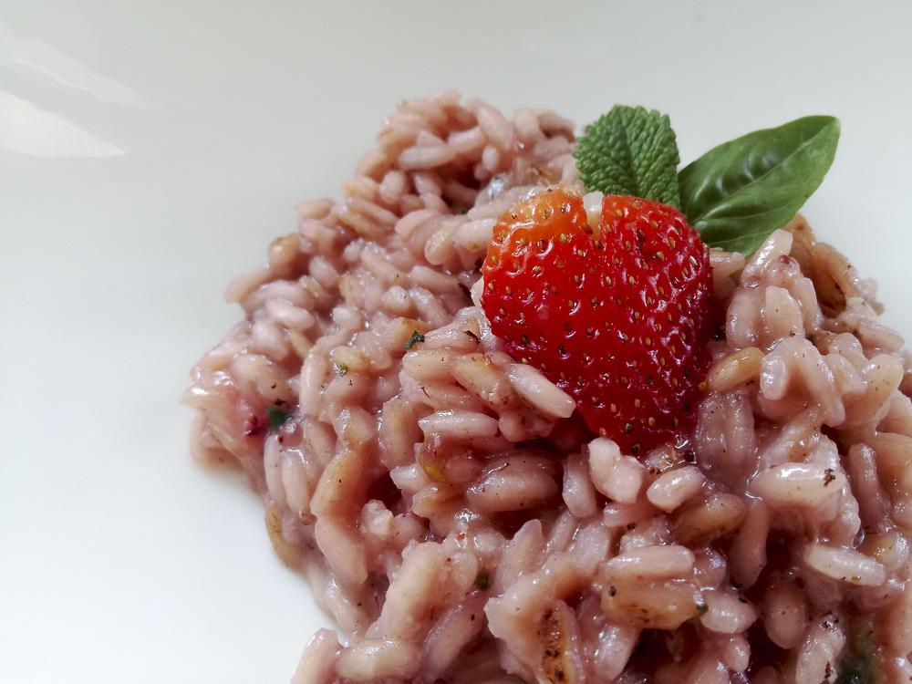 risotto fragole brie