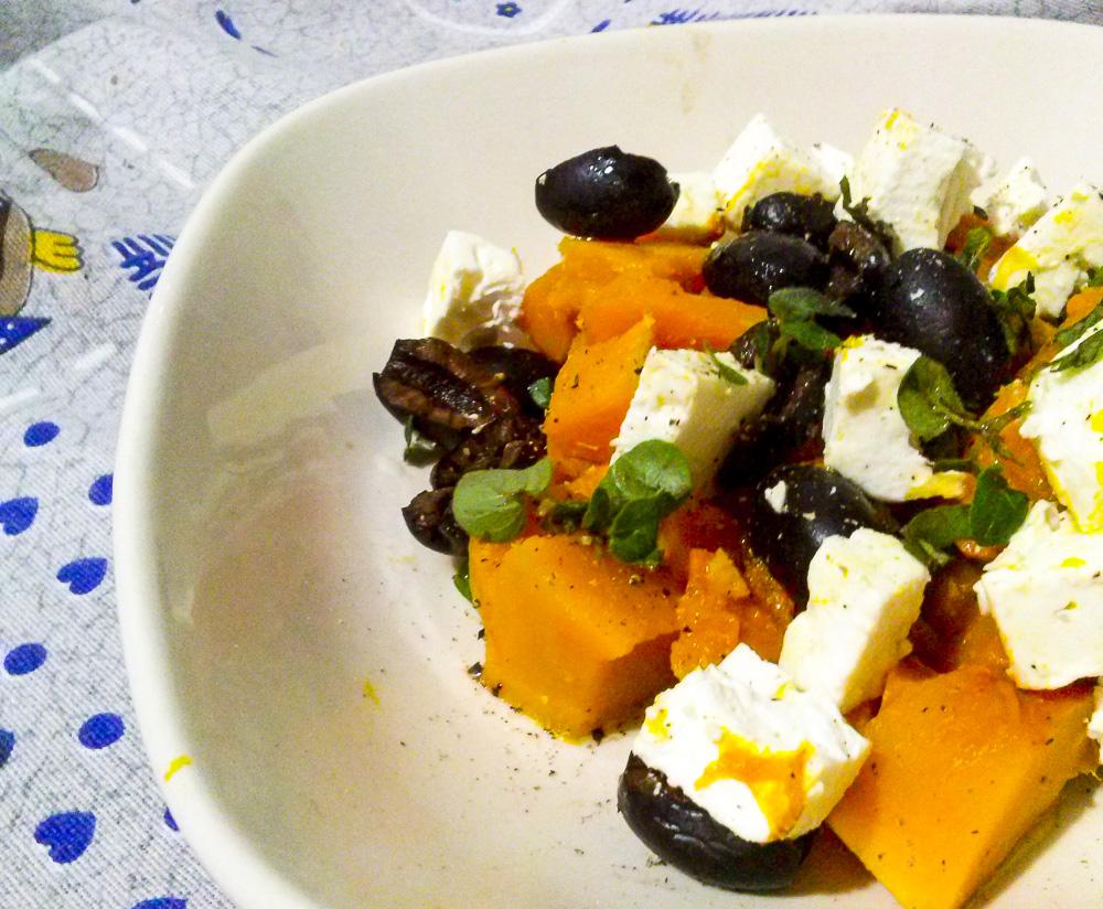 insalata d'autunno zucca e feta