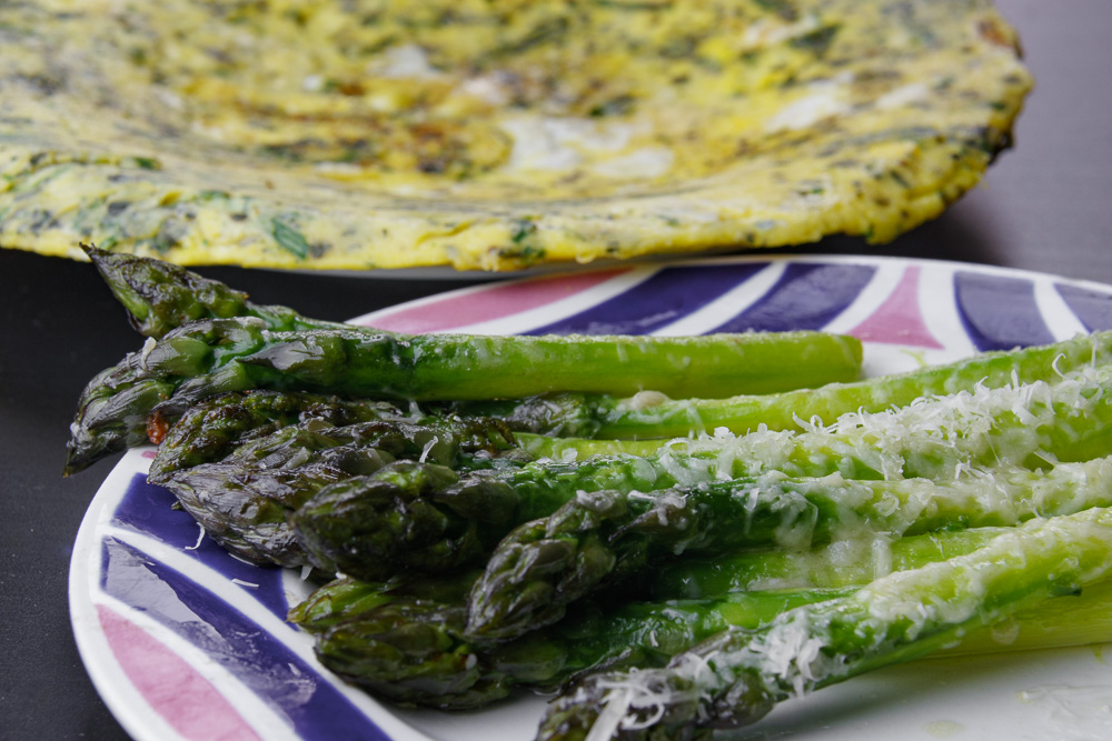 bouquet vitello frittata asparagi