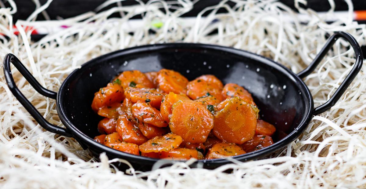 carote glassate agrodolci