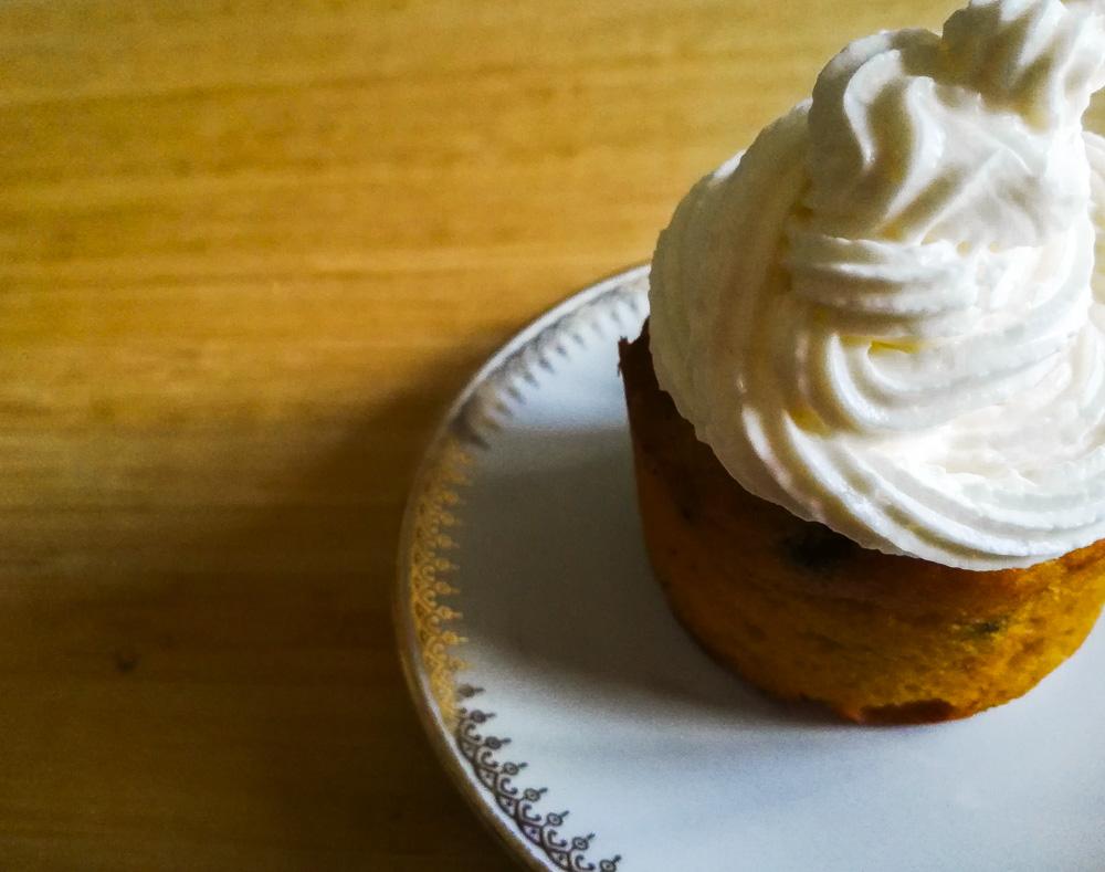cupcake zucca gocce cioccolato frosting philadelphia