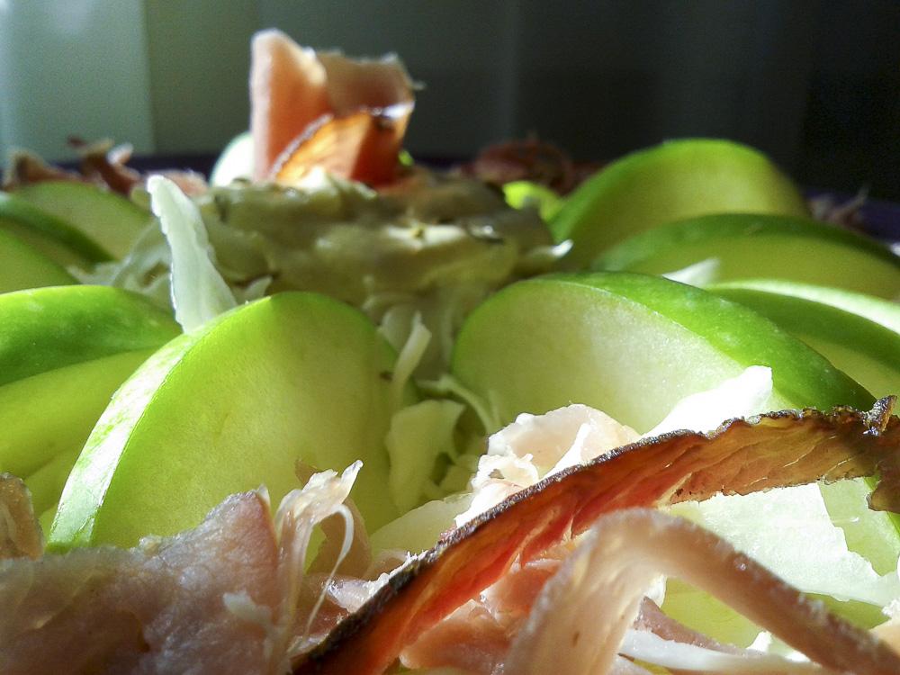 insalata tirolese cappuccio mela speck