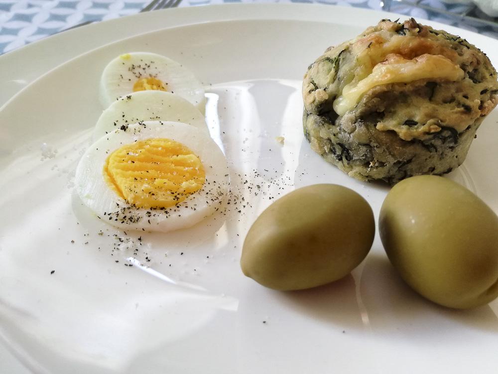 muffin agretti e brie