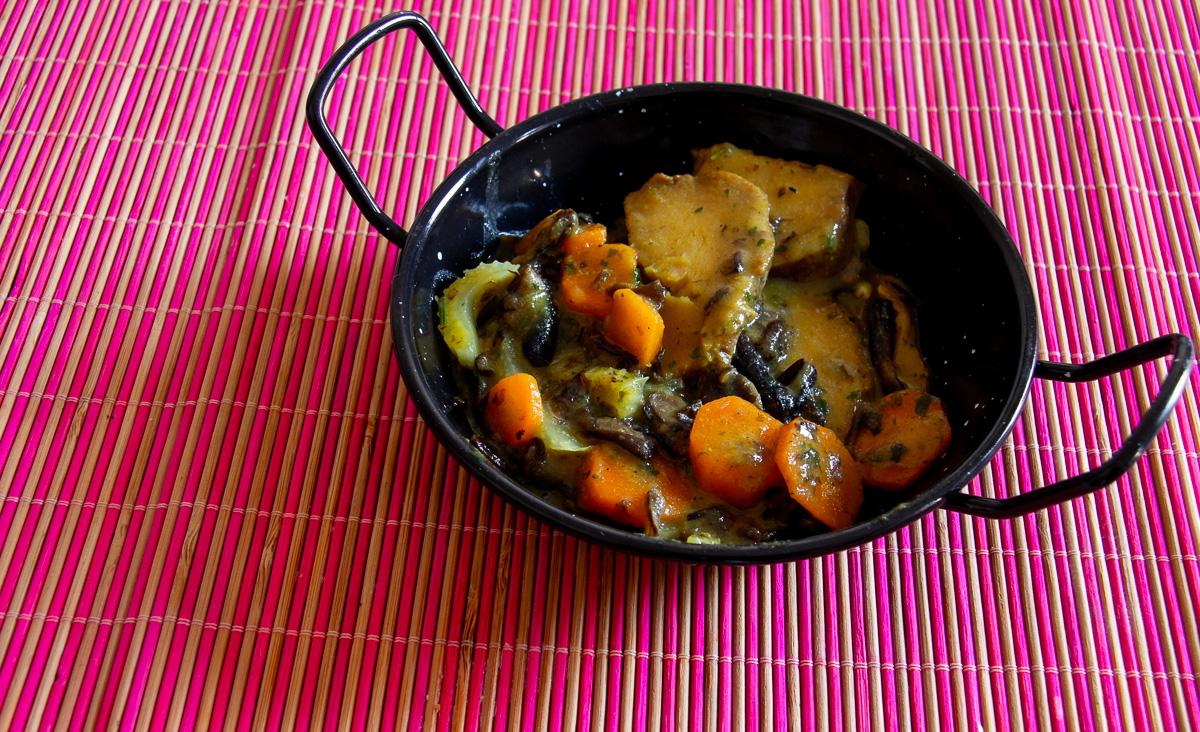 seitan curry latte di riso