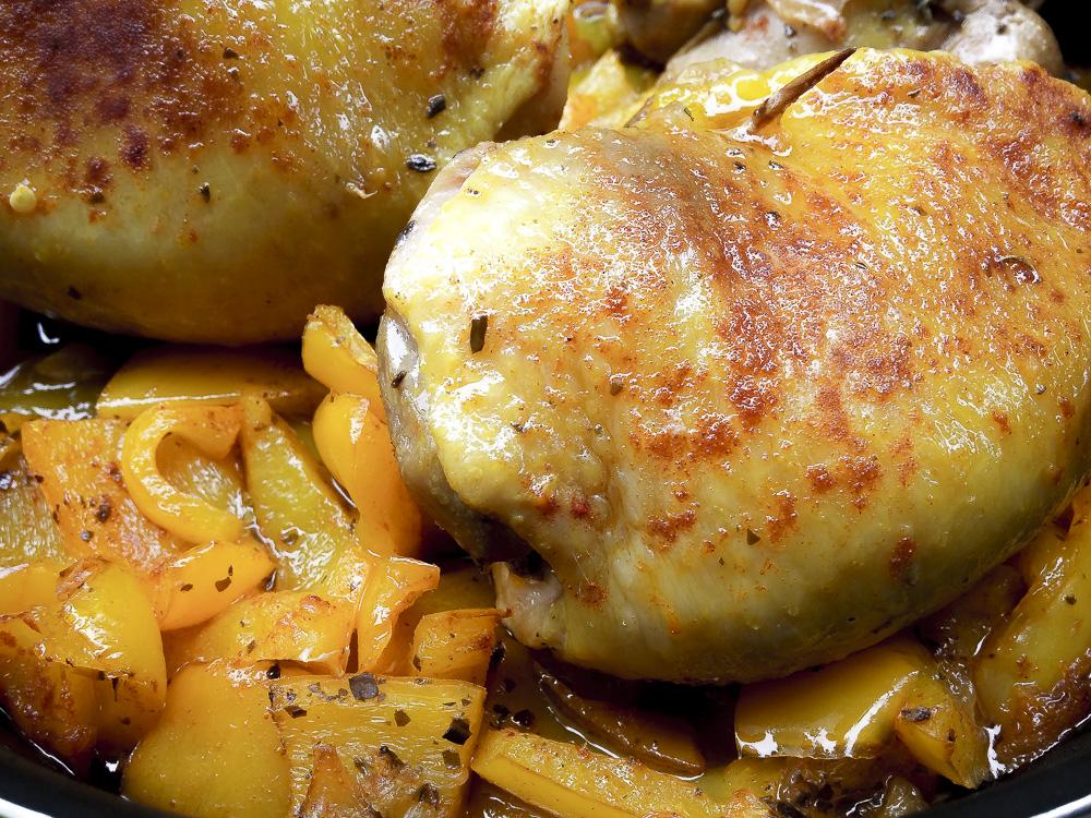 sovracosce di pollo con peperoni speziati