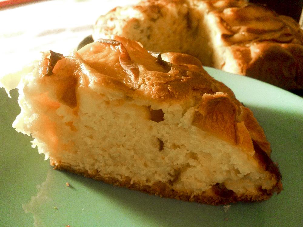 torta pesche pistacchi